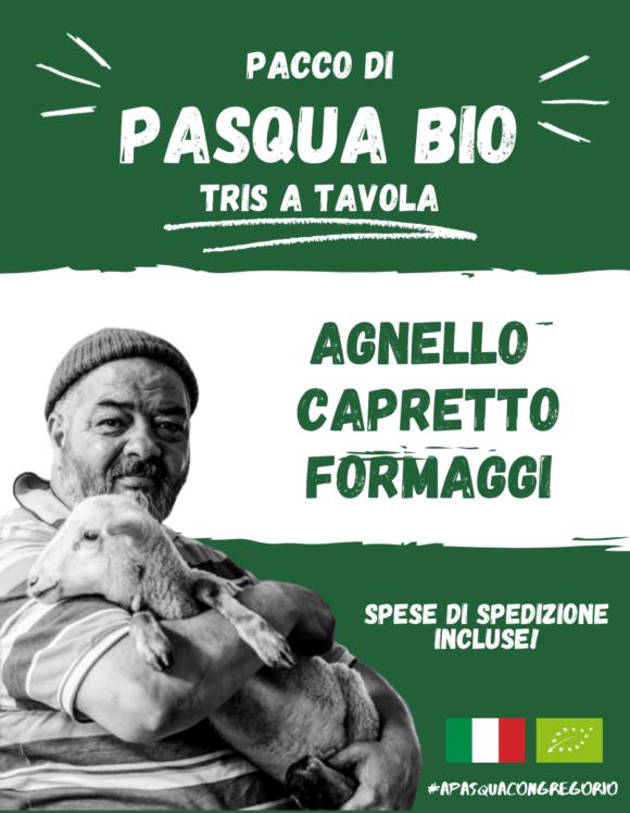 Pacco Pasqua Bio - Agnello Capretto Formaggi a latte crudo - Gregorio Rotolo - Abruzzo