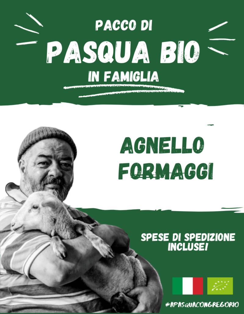 Pacco Pasqua Bio - Agnello Formaggi a latte crudo - Gregorio Rotolo - Abruzzo
