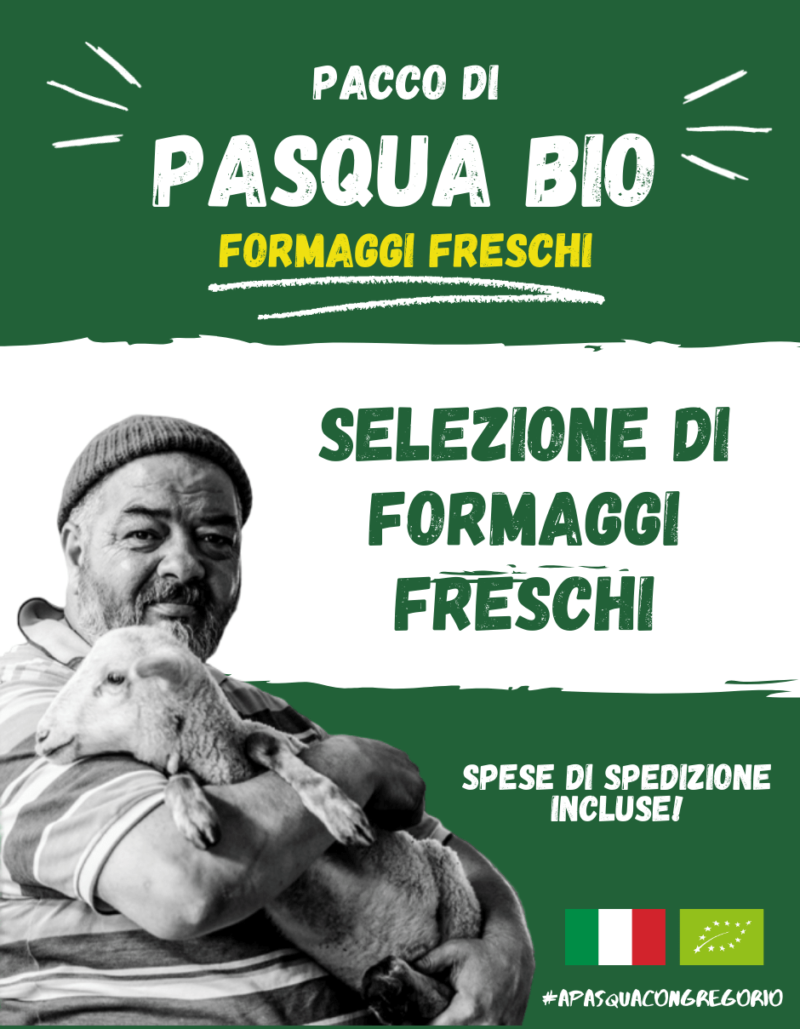 Pacco Pasqua Bio - Formaggi freschi a latte crudo - Gregorio Rotolo - Abruzzo
