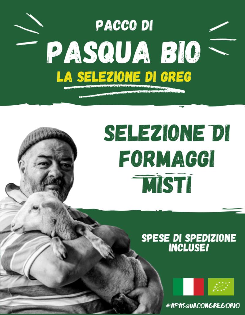 Pacco Pasqua Bio - Formaggi misti a latte crudo - Gregorio Rotolo - Abruzzo