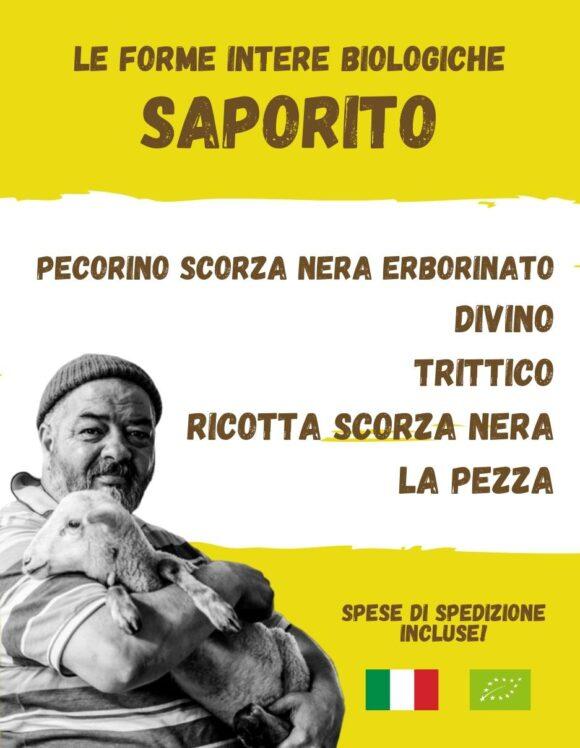 SAPORITO - La spesa bio da Gregorio Rotolo prodotti biologici, formaggi biologici a latte crudo